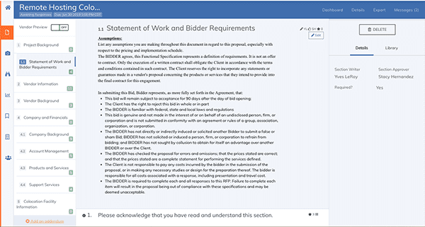 SOW and Business Requirements Example