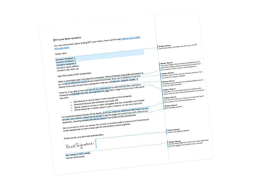 RFP Cover Letter template RFP360