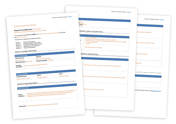 Request for qualifications template transparent
