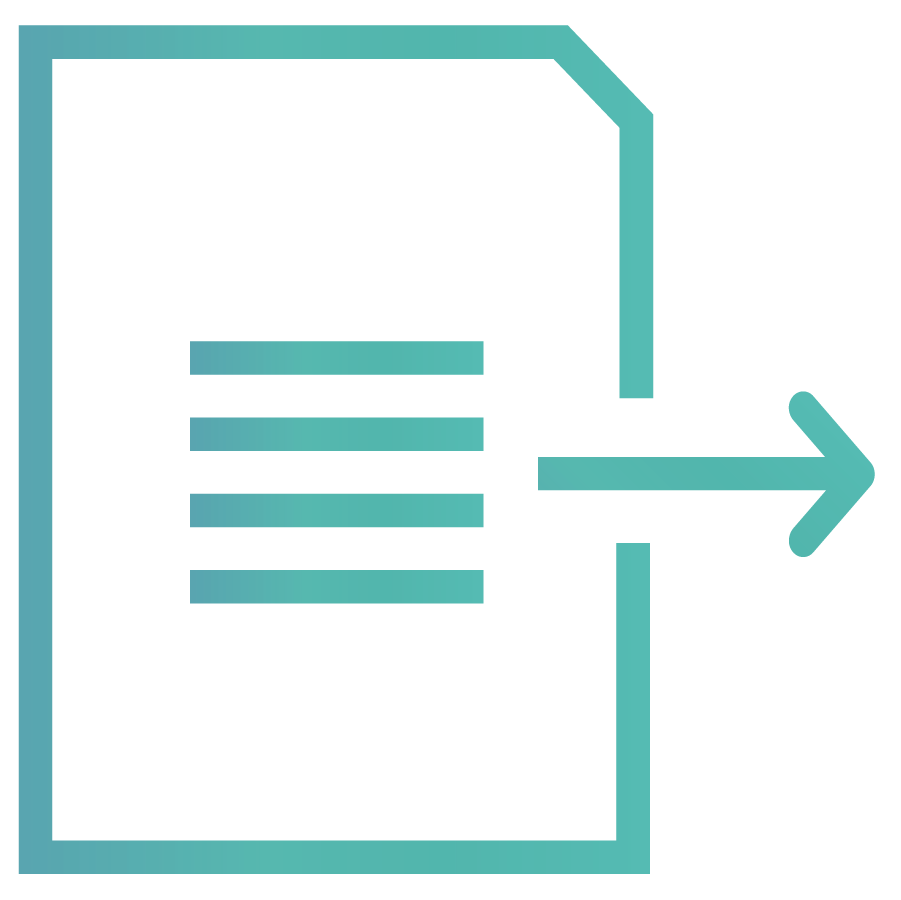 RFP360 Export document icon