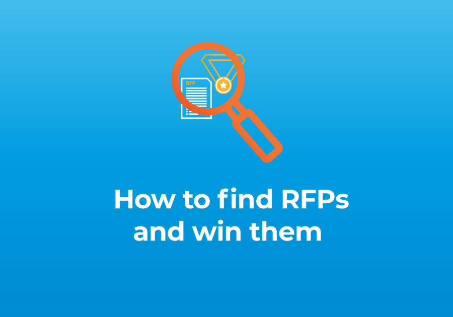 How to find RFPs blog featured image with magnifying glass and title text